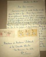LAC Recommandée De Paris Datée Du 2 Mars 1945 - 3 Timbres Arc De Triomphe Pour Bonnac La Cote (87) - Covers & Documents
