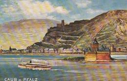 Caub (Pfalz) / 1922 / Color-AK (BE11) - Loreley