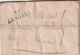 Frankreich / 1824 / Vorphila-Brief L2 LANGRES (BE22) - Poststempel (Briefe)