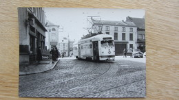 Photo Ancienne , GOSSELIES (CALVAIRE) 1/6/53 Cliché J.BAZIN  Numéroté . TRAM . - Belgique