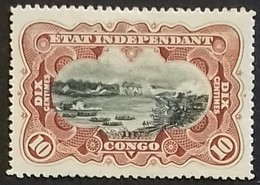 CONGO-BELGE N° 17 COTE 17 € NEUFS * MH 10 Ct Brun-rouge. TB - Congo Belge