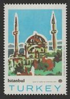 Mosque Minaret HAGIA SOPHIA ISTANBUL TURKEY Tourism POSTER Label Cinderella Vignette - Islam