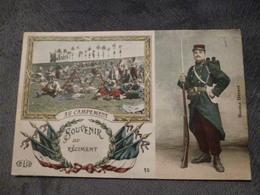 SOUVENIR DE ............. AU CAMPEMENT - Patriottisch