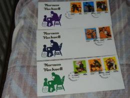 ZAÏRE - FDC - NORMAN ROCKWELL - 1980-89: FDC