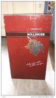Champagne Bollinger Plaque Publicité Carton Alcool Vin Avec Support - Paperboard Signs