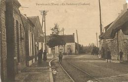 Oude Postkaart. VERREBROEK  De Kerkstraat - Beveren-Waas