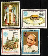 B044C- COLOMBIA - 1968 - MI#: 1135-1138 - MNH -  POPE PAUL VI VISIT TO COLOMBIA - Kolumbien