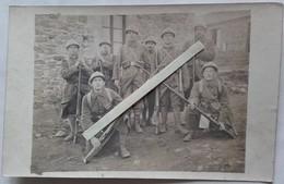 1918 Chasseurs à Pieds 21 Eme Bataillon Classe 19 Instruction Berthiers Cart Ersatz Tranchée Poilus WW1 14 18  Cart Phot - War, Military