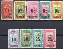 Tunisie: Yvert N° 110/118* - Tunisie (1888-1955)