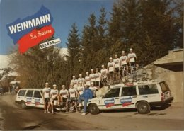 Postcard Weinmann - La Suisse - SMM Uster (teamcard)  - 1988 - Cycling