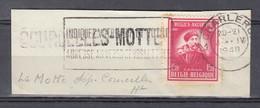 Fragment Met Langstempel Courcelles Motte - Linear Postmarks