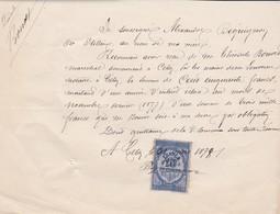 LES ETILLEUX RECU DE MR BEQUIGNON A MR BOUVET MARECHAL A CETON ANNEE 1878 AVEC TIMBRE FISCAL 10 CENTIMES - Other
