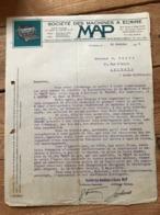 Société Des Machines à Ecrire - Map - St-Denis - 1925 - 1900 – 1949