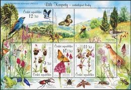 CZECH REPUBLIC 2007 Protection Of Nature White Carpathian Mountains Birds Butterflies Insects Animals Fauna MNH - Butterflies