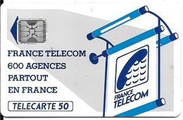 CARTE-PUBLIC-600 AGENCES-50U-Te 15Ca-SC4an-Encastré-- S/Ent-R° Glacé-5Pe-17543-UTILISE-TBE-RARE - France