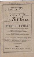 LES ETILLEUX LIVRET DE FAMILLE FAMILLE BOULAY HAMELIN ARRONDISSEMENT DE NOGENT LE ROTROU ANNEE 1921 CACHET DE LA MAIRIE - Other