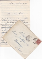 FRANCE LETTRE DE 1942 TIMBRES 1.5 Fr PETAIN TYPE PROST/ N° 517 / TAMPON A DATE ARTEMARE AIN - Marcophilie (Lettres)