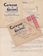 FRANCE LETTRE DE 1943 TIMBRES 1 Fr PETAIN TYPE PROST / N° 514 / TAMPON A DATE GRENOBLE - 2. Weltkrieg 1939-1945