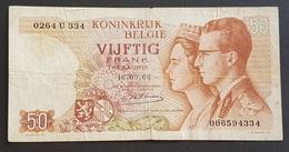 EM0505 - Belgium 50 Francs Banknote 1966 #0264 U 334 (signature 20 Emiel Kestens 01.10.1976 - 31.11.1984) - [ 2] 1831-... : Reino De Bélgica
