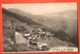 ZAE-13 Chandolin  Anniviers Circulé En 1906 Fente 1 Cm Partie Supérieure. - VS Wallis