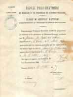DIPLOME ECOLE PREPARATOIRE DE MEDECINE ET DE PHARMACIE DE CLERMOND FERRAND  1875  MR JUMEAUX JEAN BAPTISTE  CORREZE - Diploma & School Reports