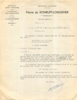 MAIRIE DE XONRUPT LONGEMER VOSGES CITATION A LA CROIX DE GUERRE  F.F.I. VILLAUME RENE  TUE A NOIREGOUTTE 1944 - 1939-45