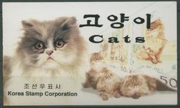 Korea (Nord) 2000 Katzen: Mutter Mit Jungtieren 4266/68 MH Postfrisch (C74894) - Corée Du Nord