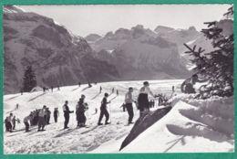 Oeschinenläger, Skifahrer - BE Berne