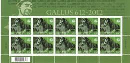 2012 Sondermarke Kleinbogen  100 Jahre Gallus . ** Zu:1423. Mi: 2237 - Blocs & Feuillets