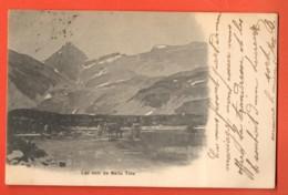 ZAE-23  Anniviers, Lac Noir De Bella Tola. Dos Simple, Cachet Sierre 1903 - VS Wallis
