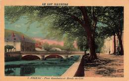 46 Figeac Pont Gambetta Et Bords Du Célé , Carte Ecrite En 1941 - Figeac