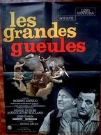 Aff Ciné Orig LES GRANDES GUEULES  (Robert Enrico/1965) Lino Ventura. Bourvil 80X60 Illus Jouineau Bourduge - Manifesti & Poster