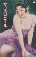 Télécarte JAPON / 110-016 - BIERE SAPPORO & Femme Poster - BEER & Girl JAPAN Phonecard - 868 - Werbung