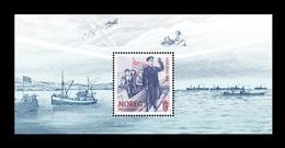 Norway 2020 Mih. 2023 (Bl.55) World War II. 75 Years Of Peace. King Haakon VII. Ships. Flag MNH ** - Nuovi
