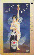 TC JAPON / 110-016 - BIERE SAPPORO & Poster Femme / Erotique Liberté - BEER & Girl Erotic JAPAN Phonecard - BIER - 872 - Werbung