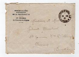 Mai20  88130      Lettre   Forces Allièes  De La Haute Silésie 46 E Division De Chasseurs Alpins 1921 - 1921-1960: Modern Period