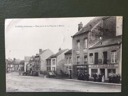 FLOING- Une Partie De La Place De La Mairie-café De La Place-pharmacie - France