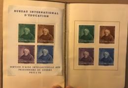 Suisse, 1942, BIE, Bureau International De L'éducation - Pere Girard - Bloc + 4 Timbres Dans Un Livret Feutré - Dienstpost