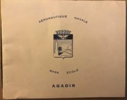 Ecole De La Base Aeronautique Navale D'Agadir (Maroc) - Visiting Cards