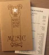 White Star Line Music - Répertoire Des Compositions Lors D'un Voyage En Mer ? - Visitekaartjes