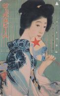 Télécarte JAPON / 110-011 - BIERE SAPPORO & Poster Femme GEISHA - BEER & Girl JAPAN Phonecard - BIER & Frau - 871 - Werbung