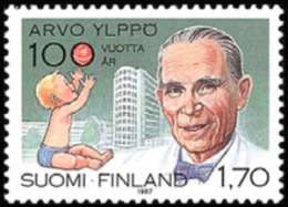 Finland - 1987 - ( Arvo Ylppo (b. 1887), Pediatrics Pioneer ) - MNH (**) - Ungebraucht