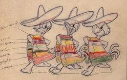 The Three Caballeros Donald Duck As Mexican Cowboy Walt Disney Postcard - Disney