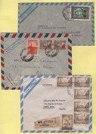 Argentine - Lot De 3 Lettres Par Avion Destination France - Poste Aérienne
