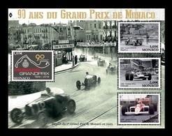 Monaco 2019 Mih. 3441/44 (Bl.129) Formula 1. Monaco Grand Prix. Race Cars MNH ** - Neufs
