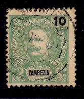 ! ! Zambezia - 1898 D. Carlos 10 R - Af. 16 - Used - Zambèze