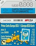291/ Italy; Omaggio 114. Prima Carta ECU; 5.000, 31.12.94 - Public Themes