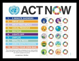 United Nations (New York) 2020 Mih. 1734/43 UN Campaign Against Climate Change Act Now. Bicycle MNH ** - New York -  VN Hauptquartier