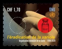United Nations (Geneva) 2020 Mih. 1112 Medicine. Eradication Of Smallpox MNH ** - Neufs