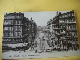 59 7498 CPA - 59 LILLE. LA RUE FAIDHERBE - ANIMATION. AUTOS. COMMERCES. - Lille